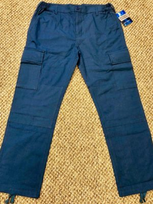 Navy COTTON RIPSTOP TWILL CARGO PANT