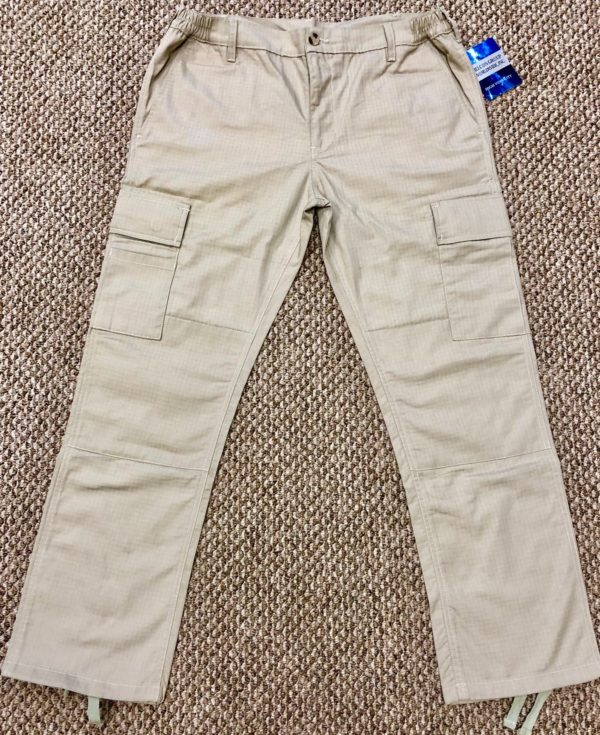 TAN COTTON RIPSTOP TWILL CARGO PANT