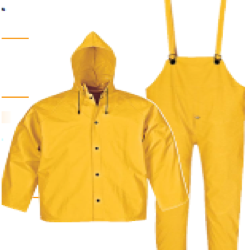 Flame Retardant Rainset with Hood
